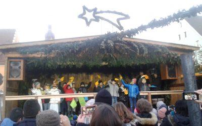 Auftritt der 3. Klasse am Weihnachtsmarkt